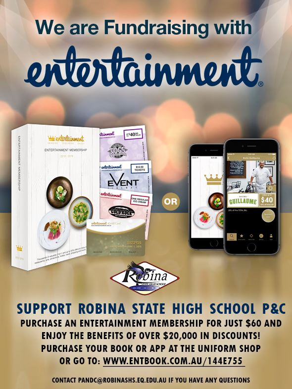Support the P&C With Entertainment Book