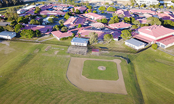 aerial view of baseball field